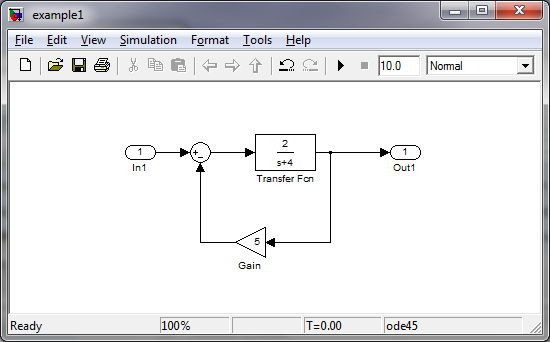 Can you use a Simulink model to set the values in a different model